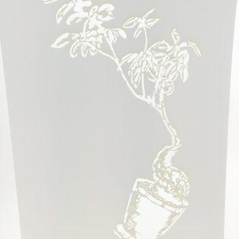 Laserleikattu stencil sabluuna maalaukseen
