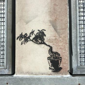 Spray stencil katutaide graffiti